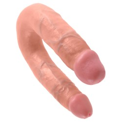 KING COCK REALISTIC DOUBLE DILDO MEDIUM DOUBLE TROUBLE WHITE