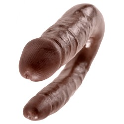 KING COCK REALISTIC DOUBLE DILDO SMALL DOUBLE TROUBLE MULATTO