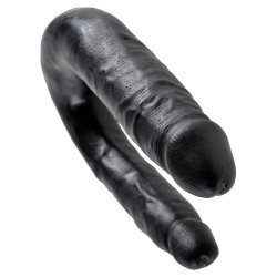 KING COCK REALISTIC DOUBLE DILDO SMALL DOUBLE TROUBLE BLACK