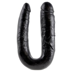KING COCK REALISTIC DOUBLE DILDO LARGE DOUBLE TROUBLE BLACK