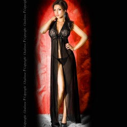 BABYDOLL AND STRING CR-3275 BLACK