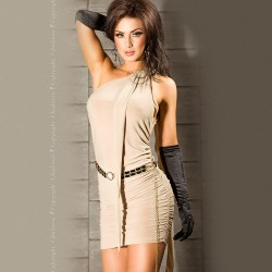 DRESS CR-3164 BEIGE