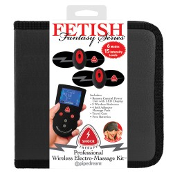 KIT PROFESSIONAL WIRELESS ELECTRO-MASSAGE KIT FETISH FANTASY SHOCK THERAPY