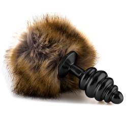 OUCH! RABBIT TAIL BUTTPLUG BLACK