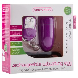 RECHARGEABLE VIBRATING EGG PURPLE