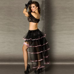 SKIRT CR-3442 BLACK AND PINK