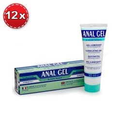 PACK COM 12 LUBRIFICANTES ANAL GEL 50ML