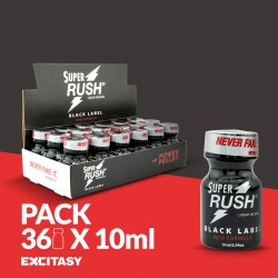 PACK COM 36 SUPER RUSH BLACK LABEL 10ML
