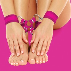 OUCH! VELCRO HAND AND LEG CUFFS PINK