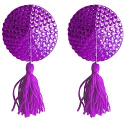 ROUND NIPPLE TASSELS OUCH! NIPPLE COVERS PURPLE