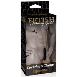 FETISH FANTASY GOLD COCKRING & CLAMPS