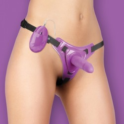 OUCH! VIBRATING STRAP-ON PURPLE