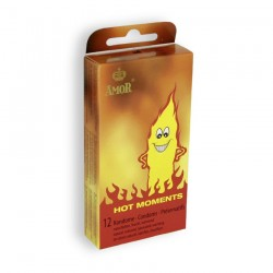 HOT MOMENTS CONDOMS 12 UNITS