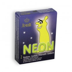 NEON GLOWING CONDOMS 2 UNITS