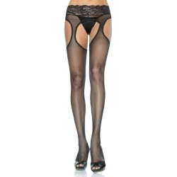 LACE GARTER BELT EFFECT PANTYHOSE