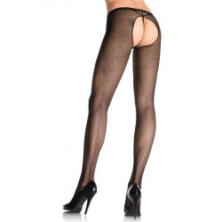 PLUS SIZE FISHNET CROTCHLESS PANTYHOSE