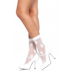 ANKLE HIGHS WITH FLOWER PATTERN