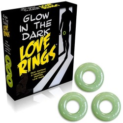 GLOW IN THE DARK LOVE RINGS 3 PACK